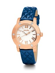 Folli Follie Donatella Watch With Blue Leather Strap