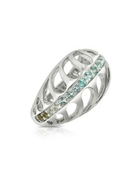 Sho London Sterling Silver Mari Rush Ring