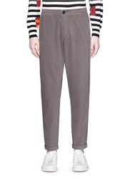 Paul Smith Elastic Waist Brushed Twill Pants Grey