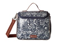Sakroots Artist Circle Crossbody Cooler Navy Spirit Desert Cross Body Handbags Gray