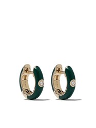 Ef Collection 14Kt Yellow Gold Enamel Diamond Huggie Earrings 60