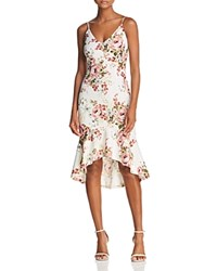 Aqua Floral Print Flounce Dress 100 Exclusive White Blush