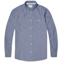 Norse Projects Button Down Anton Chambray Shirt Indigo