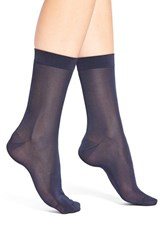 Women's Elie Tahari Sheer Trouser Socks Blue Deep Navy