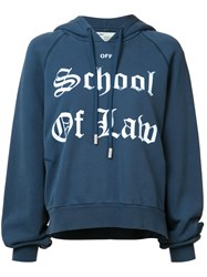 Off White School Of Law Hoodie Blue