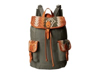 Pendleton Canvas Rucksack Casa Grande Stripe Cardinal Backpack Bags Multi