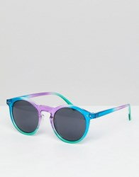 f47a5abb8428 Asos Round Sunglasses In Multi Coloured Frame With Black Lens
