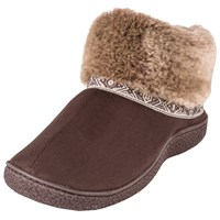 Totes Woodlands Boot Slippers Chocolate
