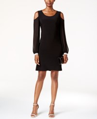 Msk Embellished Cold Shoulder Cocktail Dress Black