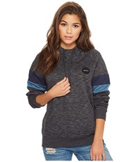 Rvca Motors Patch Hooded Pullover Black Women's Clothing