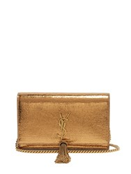 Saint Laurent Kate Small Crackled Leather Cross Body Bag Bronze