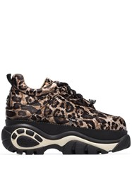 Buffalo Classic Low 68 Leopard Print Sneakers Brown