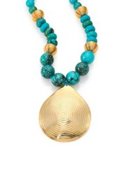 Nest Turquoise Beaded Pendant Necklace
