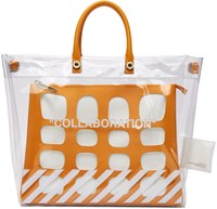 Heron Preston Transparent Off White Edition Collaboration Duffle Bag