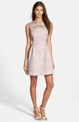 Junior Women's Frenchi Cutout Skater Dress Pink Hush