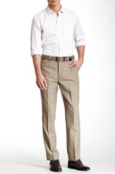 Louis Raphael Solid Worsted Wool Modern Fit Pant Green