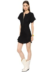 Etoile Isabel Marant Zip Ruffled Stretch Cotton Blend Dress