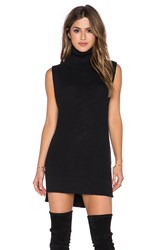 Michael Stars Sleeveless Turtleneck Tunic Black