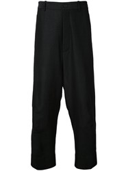 Forme D'expression Tailored Baggy Pants Men Cotton Linen Flax Mohair 50 Black