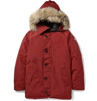 Canada Goose Chateau Coyote Trimmed Down Filled Parka Red