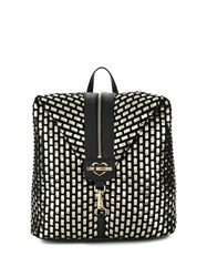 Love Moschino Front Zip Backpack Gold