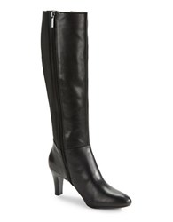 Bandolino Winola Leather Knee High Boots Black