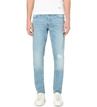 Armani Jeans J06 Slim Fit Distressed Jeans Denim