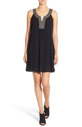 As U Wish Women's Embroidered Shift Dress