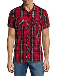 Buffalo David Bitton Sandrick Plaid Shirt Ruby Black