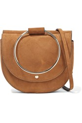 Theory Whitney Suede Shoulder Bag Tan