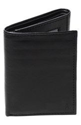 Cathy's Concepts 'S 'Oxford' Monogram Leather Trifold Wallet Black