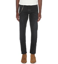 The Kooples Fitted Tapered Jeans Dark Blue