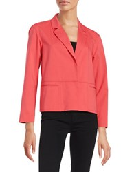 Lafayette 148 New York Two Button Cotton Blend Blazer Pink