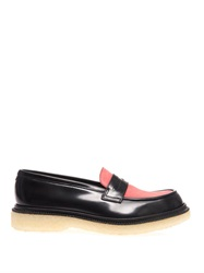 Adieu Polido Bi Colour Leather Loafers