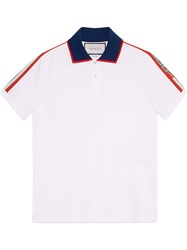 2a85b27ced2 Gucci Cotton Polo With Stripe White