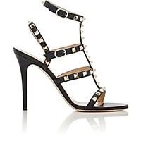 Valentino Women's Rockstud Multi Strap Sandals Red Purple Black Red Purple Black