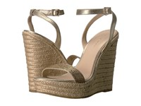 Pelle Moda Only Platinum Gold Metallic Suede Women's Wedge Shoes