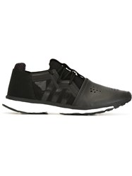Y 3 Contrast Toe Cap Running Sneakers Black