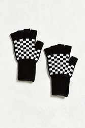 Urban Outfitters Fingerless Knit Glove Black Multi
