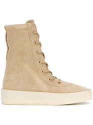 Yeezy Crepe Boots Women Calf Leather Leather Rubber 39 Nude Neutrals
