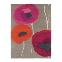 Sanderson Poppies Red Orange Rug 200X280cm