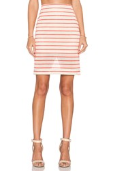 J.O.A. Striped Midi Skirt Orange