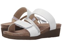 Naot Footwear Sheryl White Snake Leather White Clear Rhinestones Women's Sandals