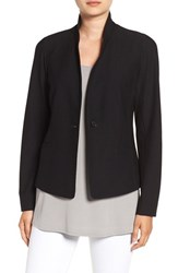 Eileen Fisher Petite Women's Washable Stretch Crepe Jacket Black