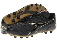 Diadora Brasil Classic Black Gold Men's Soccer Shoes