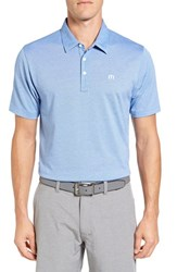 Travis Mathew Men's The Zinna Performance Polo Strong Blue