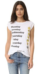 Happiness Days Of The Week Tee White