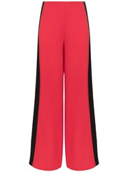 Roland Mouret Cumberland Wide Leg Trousers Red