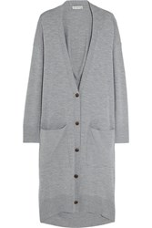 Balenciaga Oversized Wool And Cashmere Blend Cardigan Gray