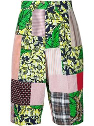 Junya Watanabe Comme Des Gara Ons Man Patchwork Shorts Multicolour